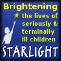 logo of starlight is person holding torch with a star shining on the end